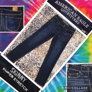 AMERICAN EAGLE OUTFITTERS NWOT SUPER SKINNY SZ 0